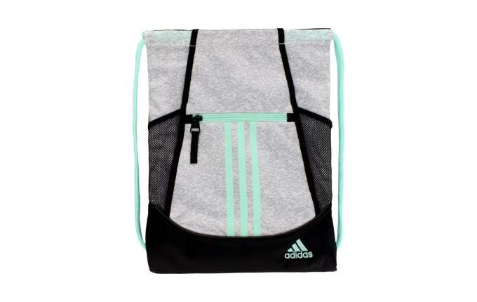 Adidas Alliance II Drawstring Backpack Grey 3D